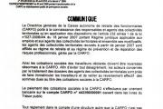 COMMUNIQUE SUR L'AFFILIATION DES AGENTS DES COLLECTIVITÉS TERRITORIALES