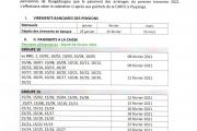 COMMUNIQUE : PAIEMENT DES ARRERAGES DE PENSIONS DU 1ER TRIMESTRE 2021