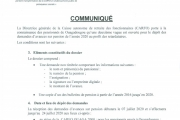 DEUXIEME VAGUE DE DEPOT DES DEMANDES D'AVANCE SUR PENSION 2020