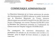 Démarrage des activités de la Direction régionale du Centre de la CARFO