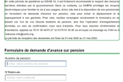 COMMUNIQUE DE PRESSE : dépôt des demandes d'avance sur pension en ligne